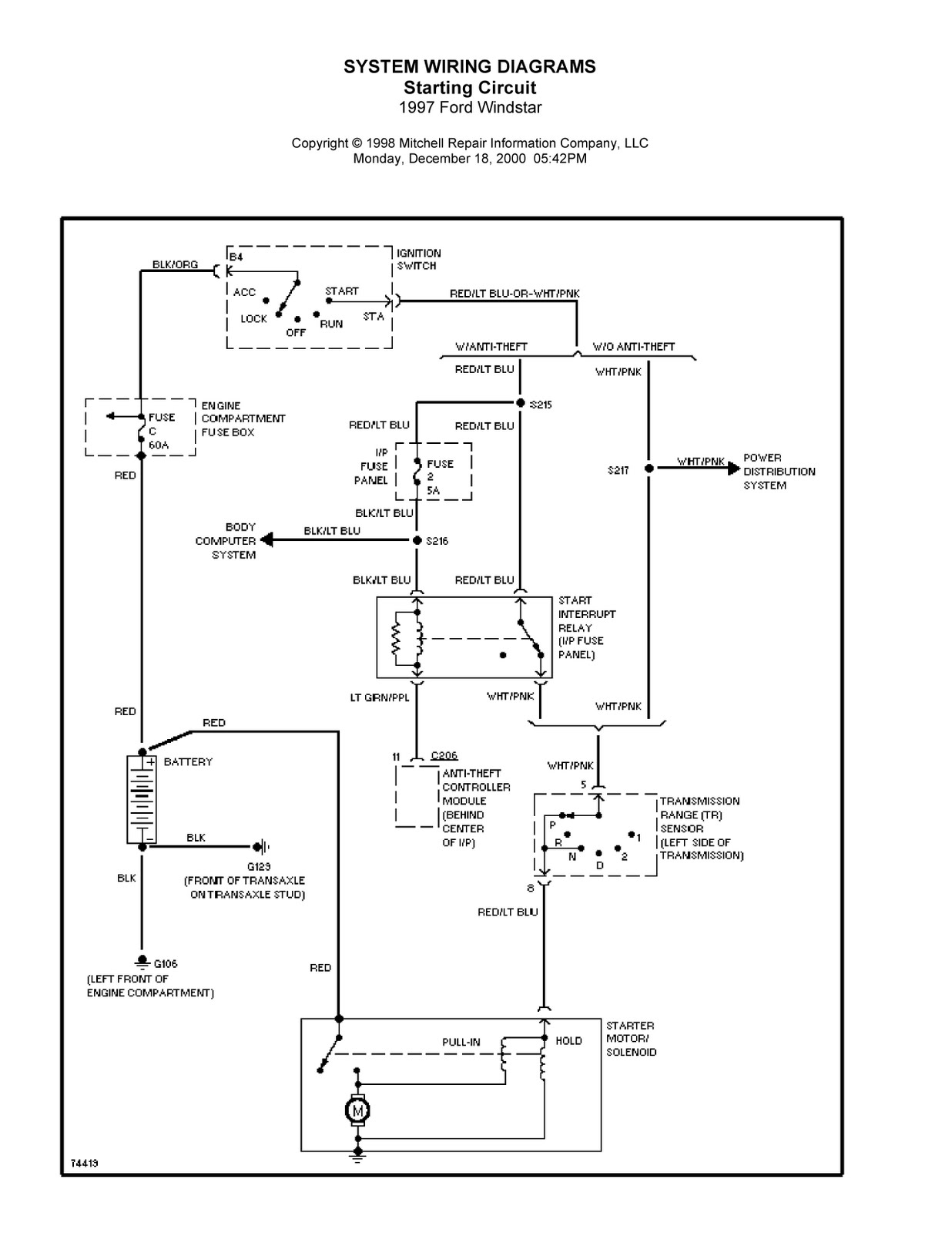 1996 windstar starter runs in accessory run and start positions on wiring diagram for 2001 ford windstar radio 2001 Ford Windstar Transmission Diagram 1994 Ford Bronco Radio Wiring Diagram