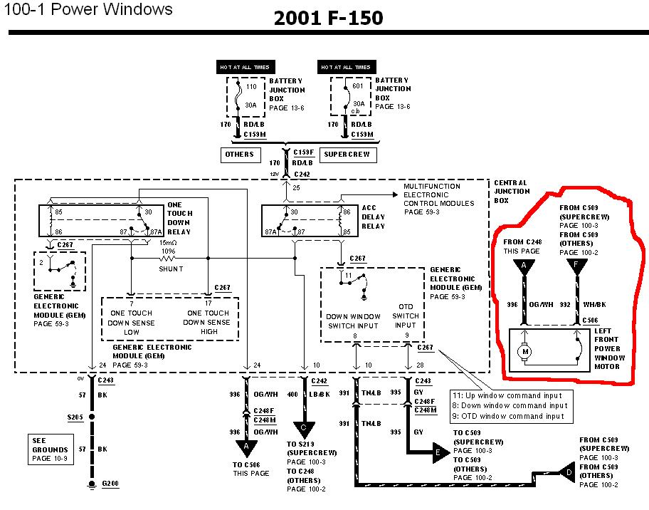 02 excursion window problem fordforumsonline com ford f150 power window wiring diagram at mifinder.co