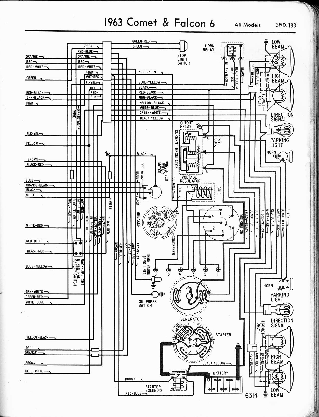 1962 Ford Falcon Wiring Diagram