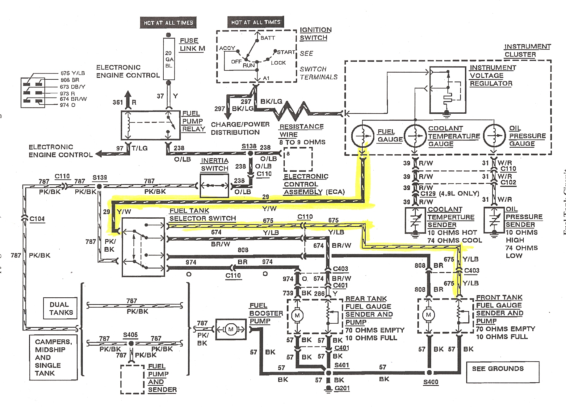 sending unit wiring diagram wiring diagram database88 ford mustang fuel sender  wiring wiring diagram gp temperature