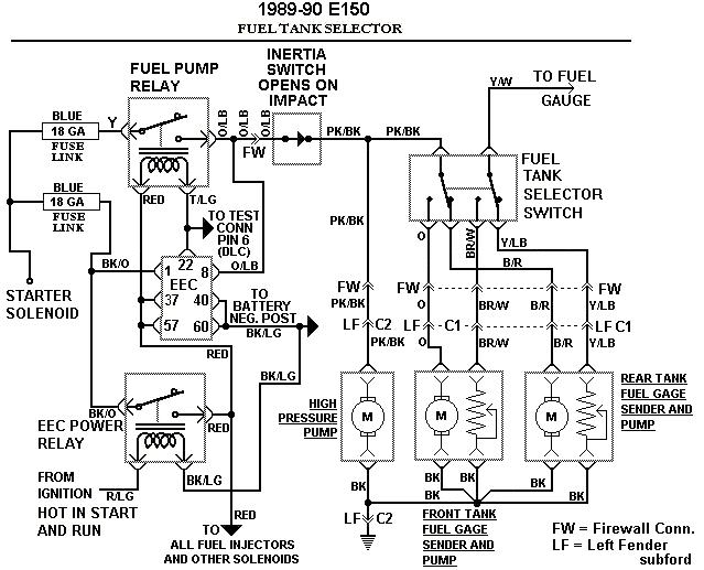 1989 e350 fuel problem fordforumsonline com Chevy Fuel Tank Selector Valve Wiring Diagram at alyssarenee.co