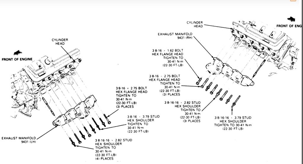 1989 f350 460 efi exhaust manifold  need help