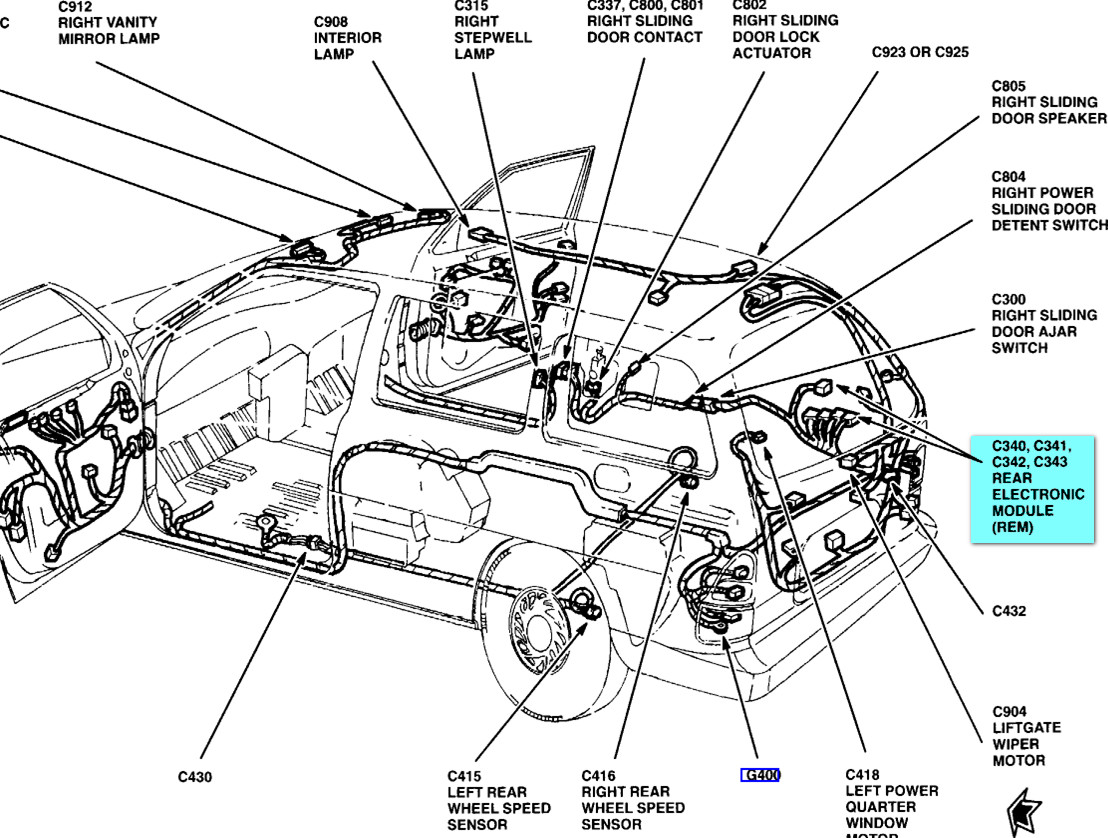 am looking for a place to mount an antenna on a 2000 windstar 2002 F150 Wiring Diagram at 2002 Windstar Front Electronic Module Wiring Diagram