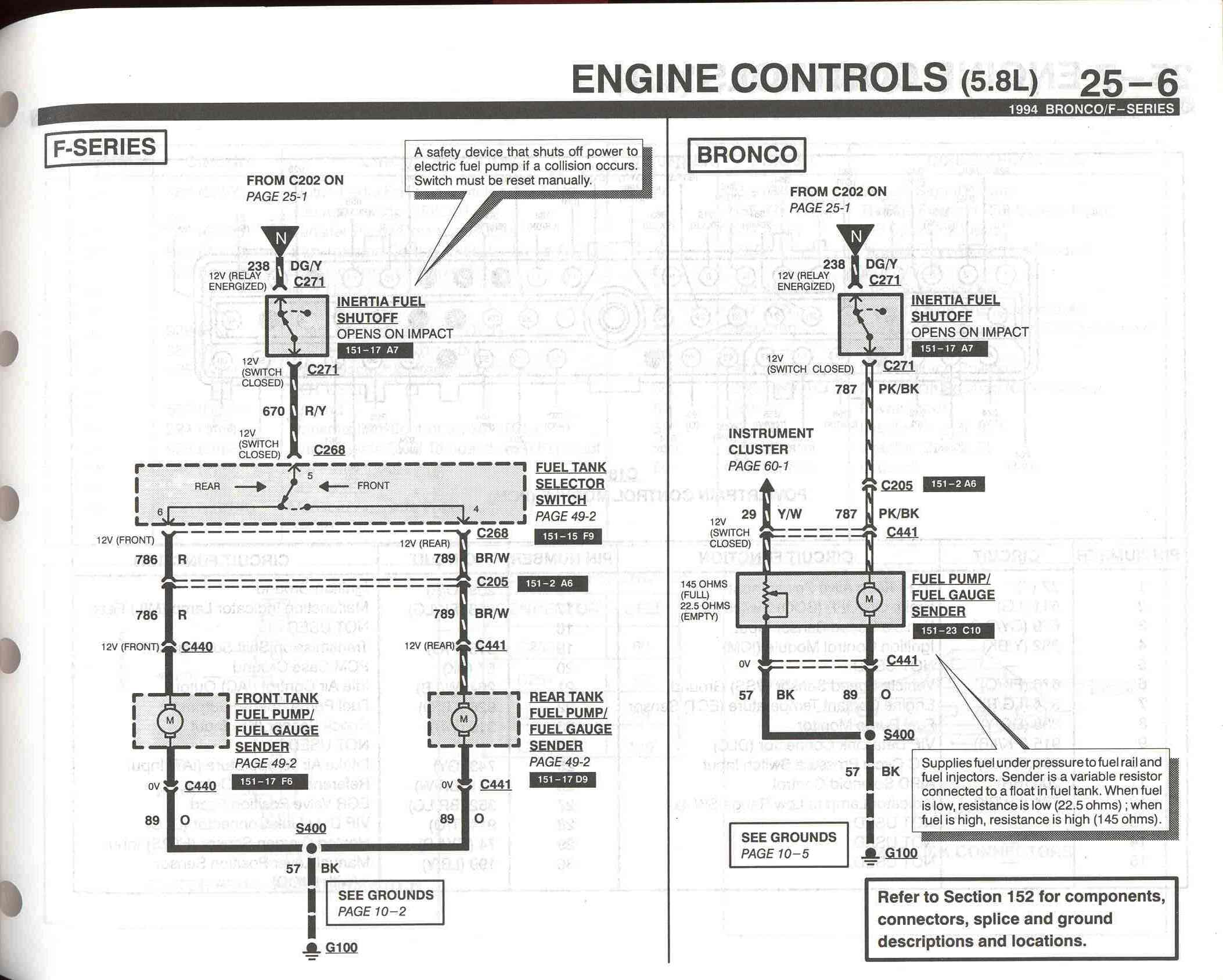 94 f150 fuel wiring diagram 96 f150 front fuel guage stoped working | fordforumsonline.com 94 f150 stereo wiring diagram #3