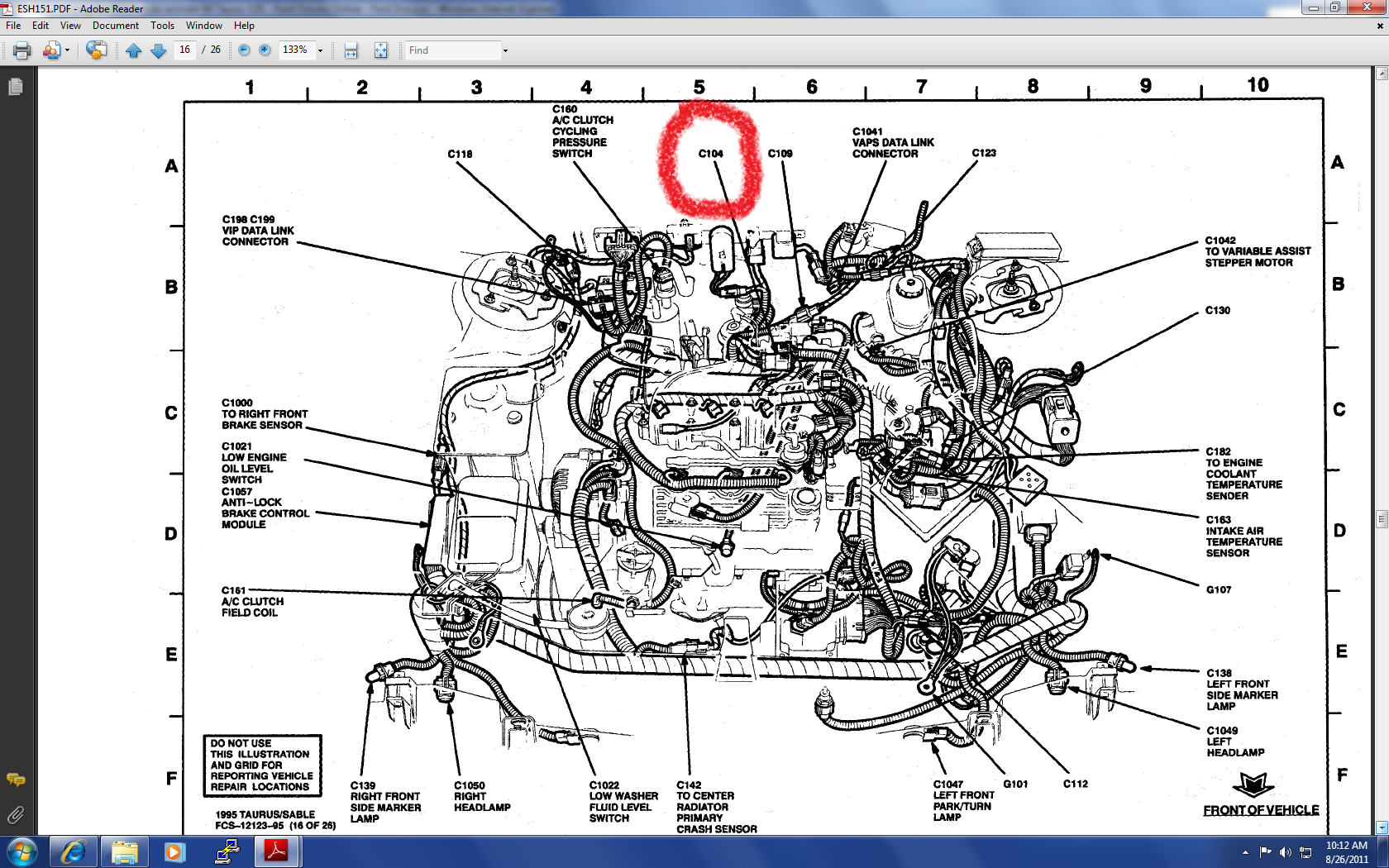 radiator cooling fan fails to auto activate 94 taurus 3 0l Sable Wiring-Diagram Fan at edmiracle.co