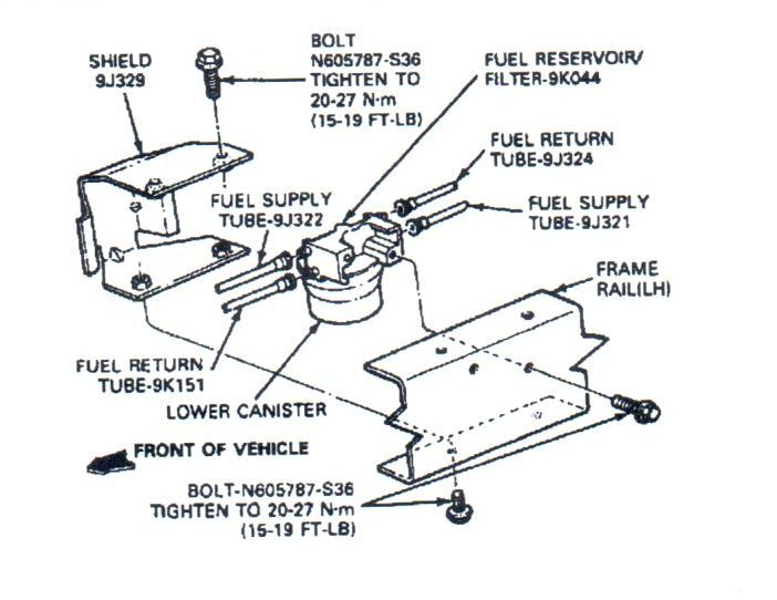 ford f250 diesel fuel system diagram