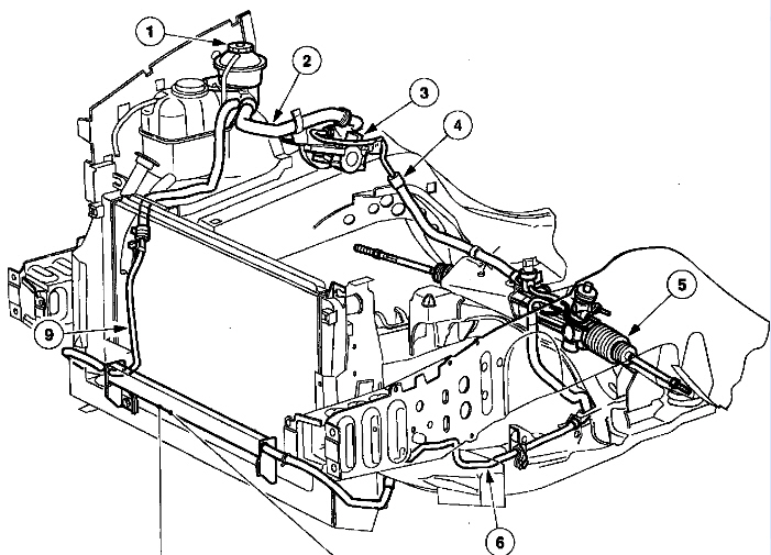 2002 Ford F250 Steering Diagram
