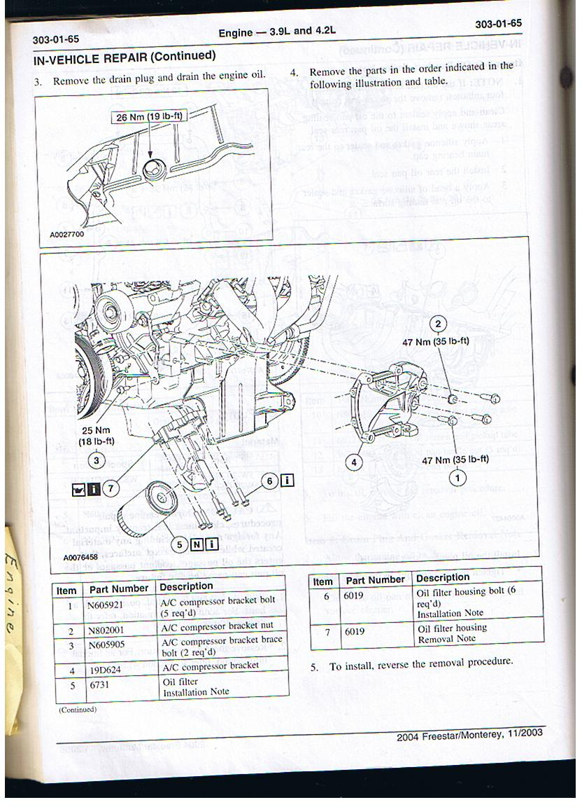 2006 ford fusion 2 4l engine diagram oil leak above filter fordforumsonline com  oil leak above filter