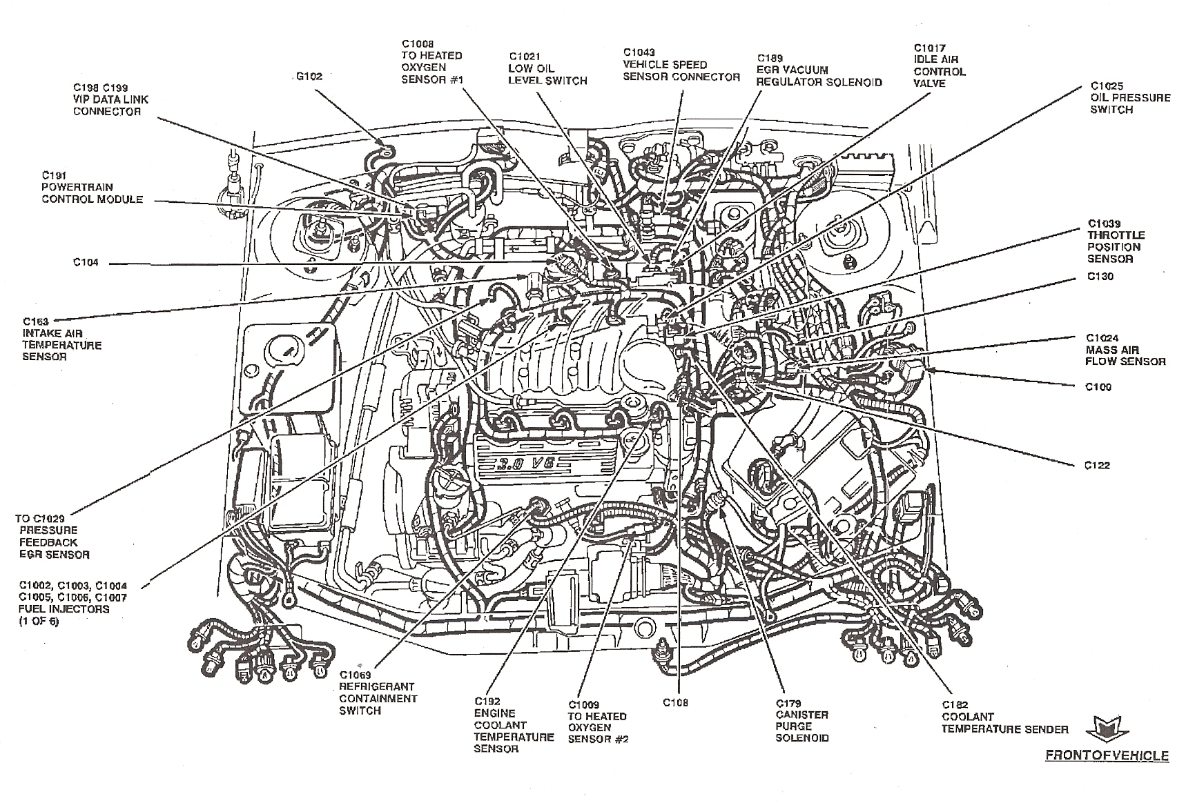 94 ford taurus page 2 fordforumsonline com 2001 ford taurus fuse box diagram under hood at crackthecode.co